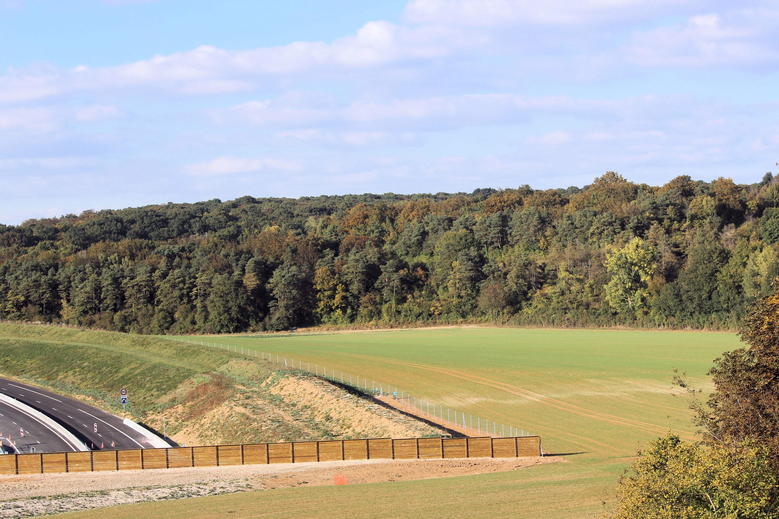 maillard paysage clôture route